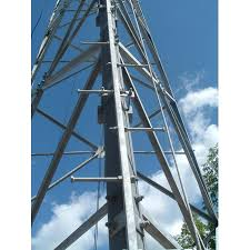 Cell tower with step bolts